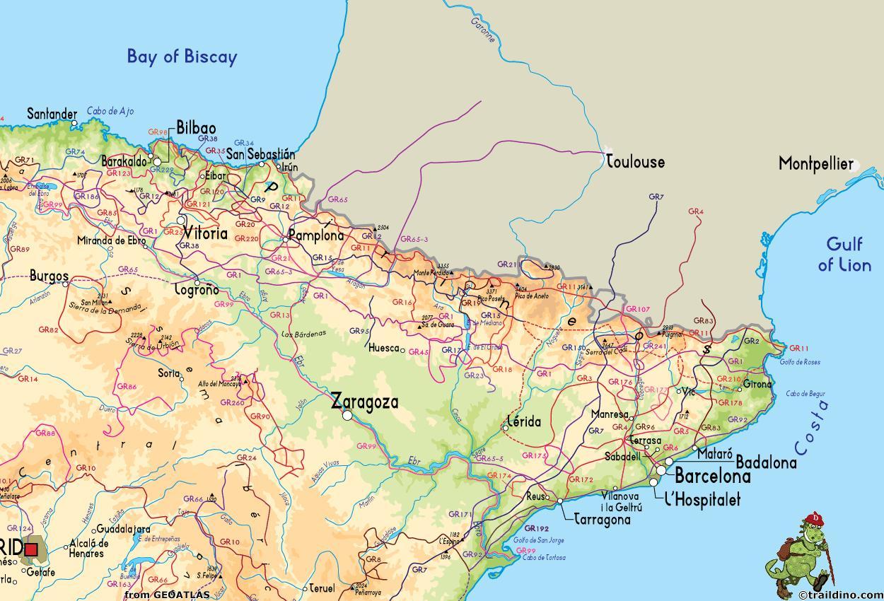 Costa De Barcelona Mapa.Mapa Da Costa Espanola Preto De Barcelona Mapa Da Costa