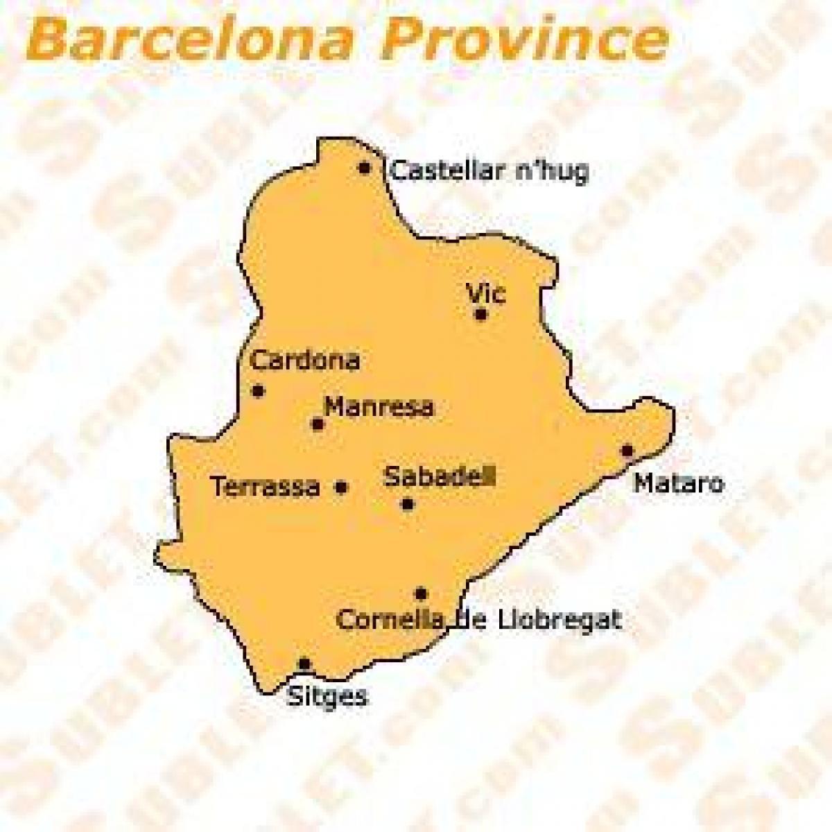 Mapa De Barcelona Provincia.Barcelona Provincia Mapa Plano De Barcelona Provincia